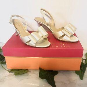 Kate Spade Micah Ivory Satin Wedding Shoes